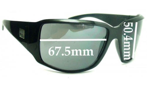Sunglass Fix Sunglass Replacement Lenses for Quiksilver The Don - 67.5mm Wide