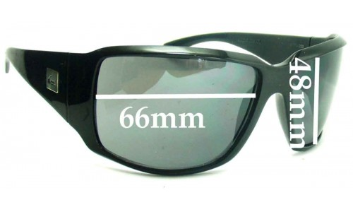 Sunglass Fix Sunglass Replacement Lenses for Quiksilver The Don - 66mm Wide