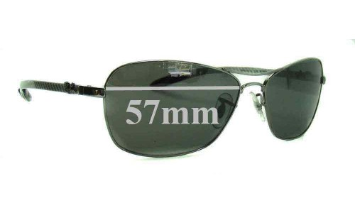 Sunglass Fix Sunglass Replacement Lenses for Ray Ban RAM4267AA - 57mm Wide