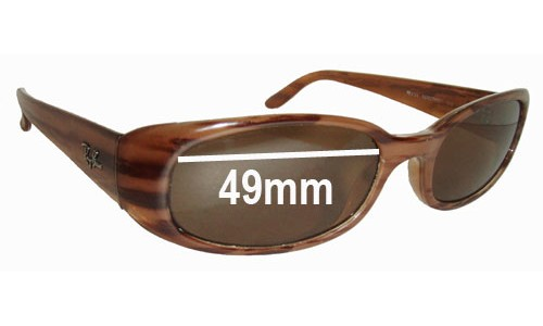 Sunglass Fix Sunglass Replacement Lenses for Ray Ban Sidestreet RB2123 - 49mm wide