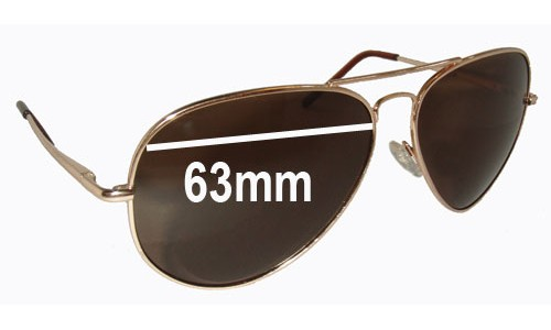 Sunglass Fix Sunglass Replacement Lenses for Ray Ban RB2510 - 63mm wide