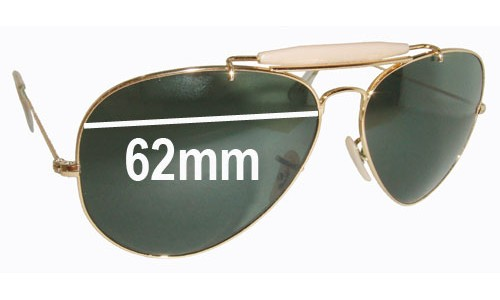 Sunglass Fix Sunglass Replacement Lenses for Ray Ban RB3029 - 62mm wide