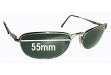 Sunglass Fix Sunglass Replacement Lenses for Ray Ban RB3105 - 55mm Wide