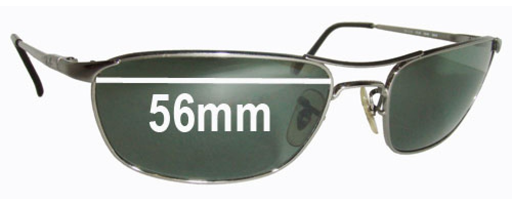 e6f20f112e8 Sunglass Fix Sunglass Replacement Lenses for Ray Ban RB3132 - 56mm wide