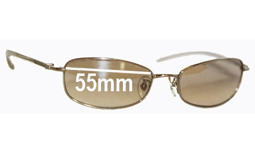 Sunglass Fix Sunglass Replacement Lenses for Ray Ban RB3231 - 55mm wide lenses