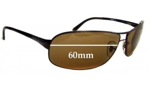 Sunglass Fix Sunglass Replacement Lenses for Ray Ban Sidestreet RB3343 - 60mm Wide