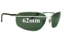 Sunglass Fix Sunglass Replacement Lenses for Ray Ban RB3360 - 62mm Wide