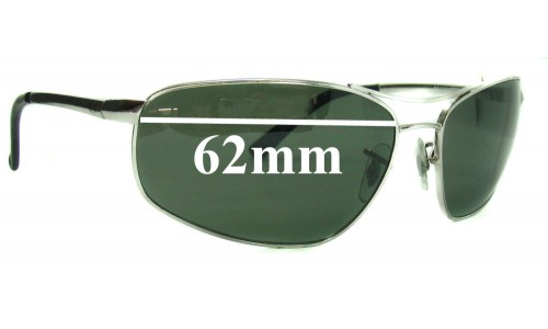 Sunglass Fix Sunglass Replacement Lenses for Ray Ban RB3360 62mm wide