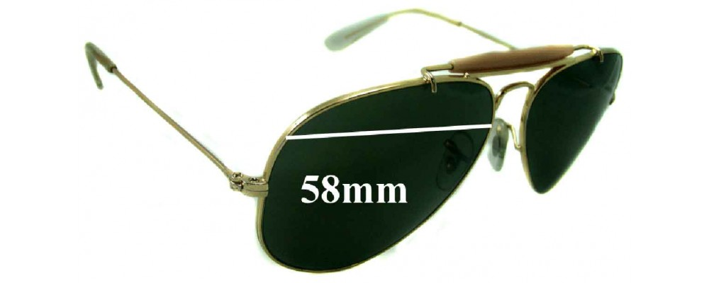 Sunglass Fix Sunglass Replacement Lenses for Ray Ban RB3407 Aviator - 58mm Wide