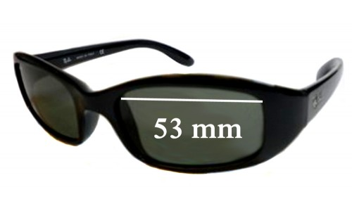 Sunglass Fix Sunglass Replacement Lenses for Ray Ban Sidestreet RB4063 - 53mm Wide