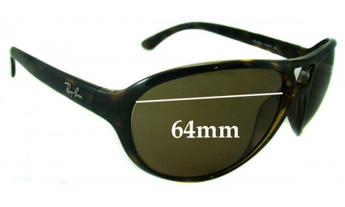 Sunglass Fix Sunglass Replacement Lenses for Ray Ban RB4090 - 64mm wide