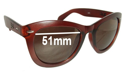 Sunglass Fix Sunglass Replacement Lenses for Ray Ban RB9325 - 51mm wide