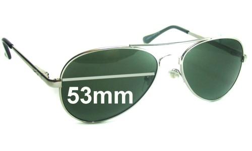 Sunglass Fix Sunglass Replacement Lenses for Ray Ban Aviator LH8923G - 53mm Wide