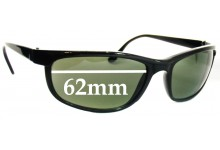 Sunglass Fix Sunglass Replacement Lenses for Ray Ban B&L W1847 - 62mm Wide