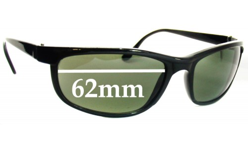 Sunglass Fix Sunglass Replacement Lenses for Ray Ban W1847 Bausch Lomb - 62mm Wide