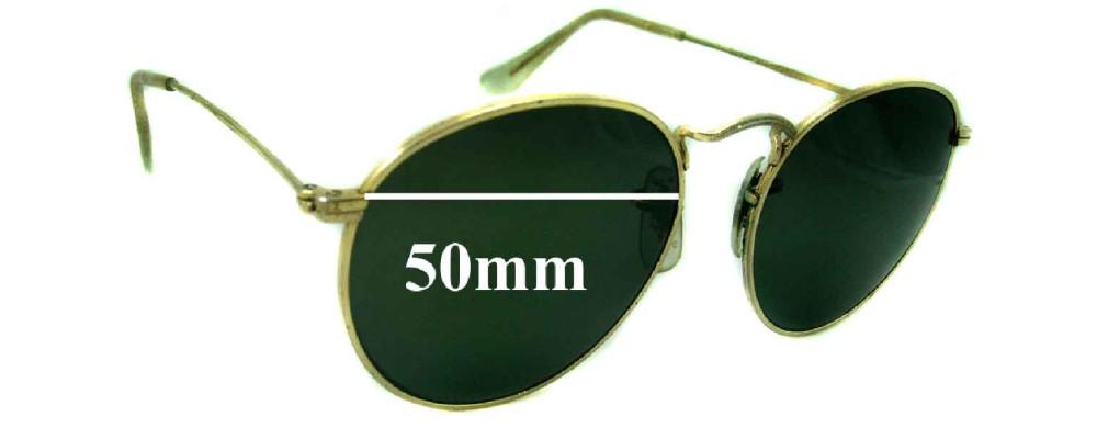 Sunglass Fix Sunglass Replacement Lenses for Ray Ban B&L John Lennon - 50mm Wide
