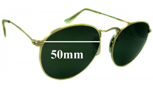 Sunglass Fix Sunglass Replacement Lenses for Ray Ban John Lennon Bausch Lomb - 50mm wide