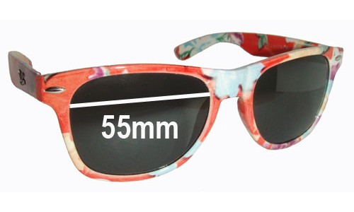 Sunglass Fix Sunglass Replacement Lenses for Ray Ban F652 - 55mm wide