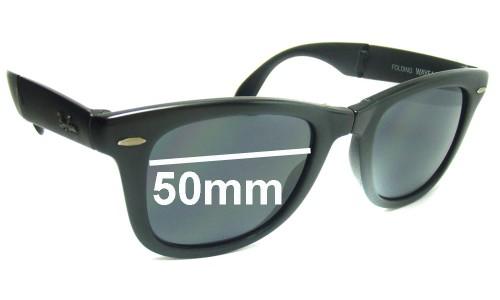 Sunglass Fix Sunglass Replacement Lenses for Ray Ban B&L Folding Wayfarer W0670 - 50mm Wide