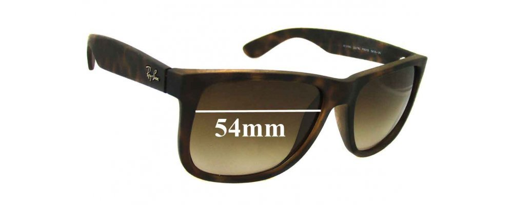 21a4282fca1 Ray Ban RB4165 Justin Sunglass Replacement Lenses - 54mm wide ...