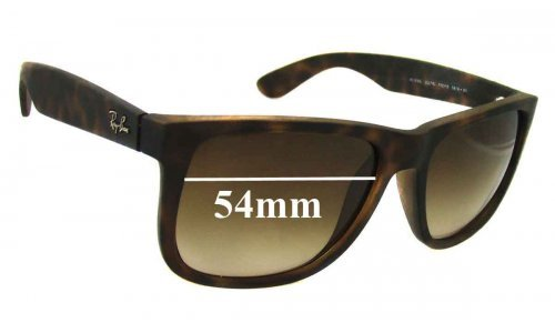 Sunglass Fix Sunglass Replacement Lenses for Ray Ban RB4165 Justin - 54mm wide *Please measure as there are several models*