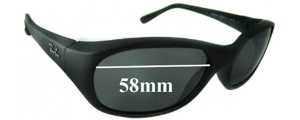 Sunglass Fix Sunglass Replacement Lenses for Ray Ban RB2016 Daddy-O 58mm Wide