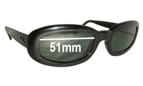 Sunglass Fix Sunglass Replacement Lenses for Ray Ban RB2111 Rituals - 51mm wide lenses