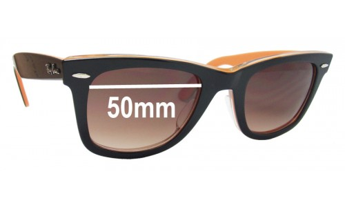 Sunglass Fix Sunglass Replacement Lenses for Ray Ban RB2140-A Wayfarer - 50mm wide lenses