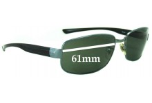 Sunglass Fix Sunglass Replacement Lenses for Ray Ban RB3331 - 61mm Wide