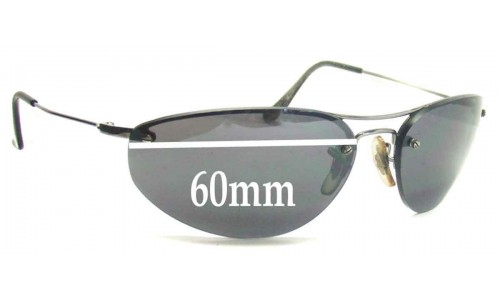 Sunglass Fix Sunglass Replacement Lenses for Ray Ban RB3155 - 60mm Wide  (not 57mm)