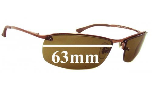 Sunglass Fix Sunglass Replacement Lenses for Ray Ban RB3183 Top Bar - 63mm Wide