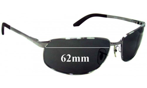 Sunglass Fix Sunglass Replacement Lenses for Ray Ban RB3221 - 62mm Wide