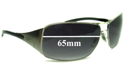 Sunglass Fix Sunglass Replacement Lenses for Ray Ban Highstreet Aviator RB3320 - All other models except 41-71 and 3320 042-8Z - 65mm wide