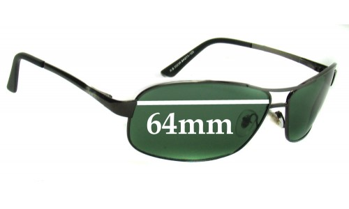 Sunglass Fix Sunglass Replacement Lenses for Ray Ban RB3323A and RB3323 - 64mm Wide