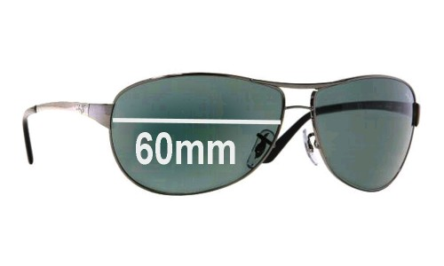 Sunglass Fix Sunglass Replacement Lenses for Ray Ban Warrior RB3342 - 60mm wide
