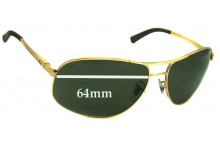 Sunglass Fix Sunglass Replacement Lenses for Ray Ban RB3387 - 64mm Wide