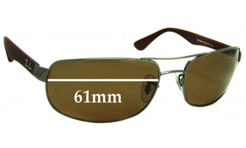 Sunglass Fix Replacement Lenses for Ray Ban RB3445 - 61mm Wide