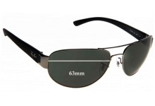 Sunglass Fix Sunglass Replacement Lenses for Ray Ban RB3448 - 63mm Wide