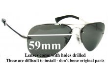 Sunglass Fix Sunglass Replacement Lenses for Ray Ban Aviator RB3449 - 59mm Wide
