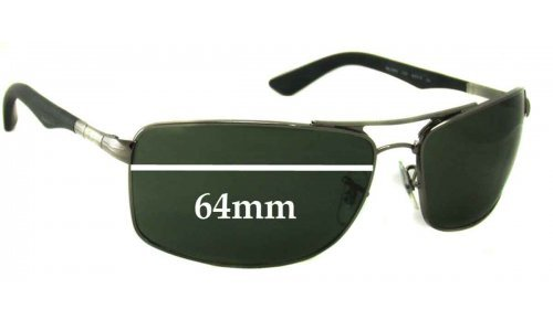 Sunglass Fix Sunglass Replacement Lenses for Ray Ban RB3465 - 64mm Wide