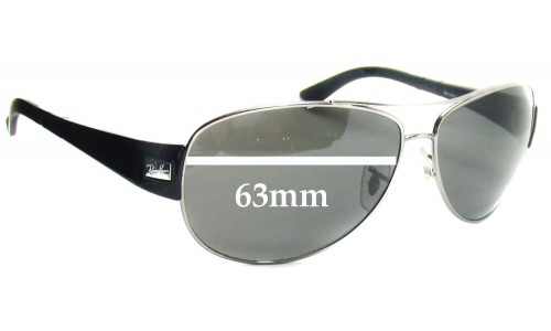 Sunglass Fix Sunglass Replacement Lenses for Ray Ban RB3467 - 63mm across