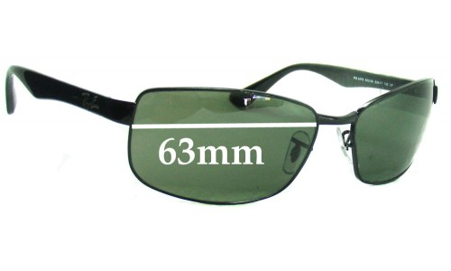 Sunglass Fix Sunglass Replacement Lenses for Ray Ban RB3478 - 63mm Wide