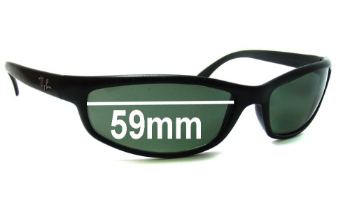Sunglass Fix Sunglass Replacement Lenses for Ray Ban RB4030 -  59mm Wide