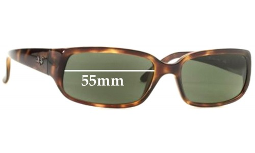 Sunglass Fix Sunglass Replacement Lenses for Ray Ban RB4055 - 55mm wide