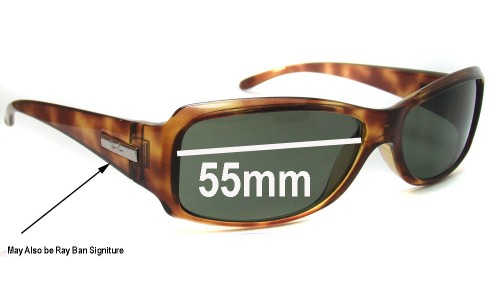 Sunglass Fix Sunglass Replacement Lenses for Ray Ban RB4058 - 55mm wide x 33mm high