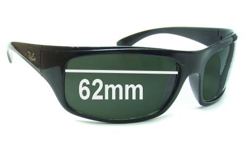 Sunglass Fix Sunglass Replacement Lenses for Ray Ban RB4092 - 62mm wide