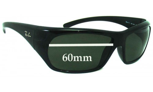 Sunglass Fix Sunglass Replacement Lenses for Ray Ban RB4111 - 60mm Wide