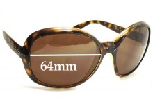 Sunglass Fix Sunglass Replacement Lenses for Ray Ban RB4113 Jackie Ohh III - 64mm Wide