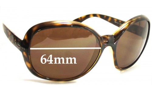 Sunglass Fix Sunglass Replacement Lenses for Ray Ban RB4113 Jackie Ohh III - 64mm Wide lenses