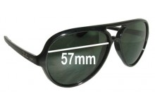Sunglass Fix Sunglass Replacement Lenses for Ray Ban RB4125 Cats 5000 - 57mm Wide